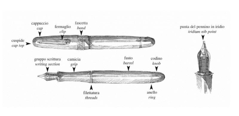 Nib Fountain Pen Glossary Casa Della Stilografica