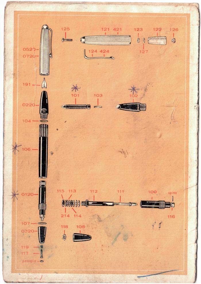 Vintage list of spare parts aurora 88 casa della - Portamine vintage ...